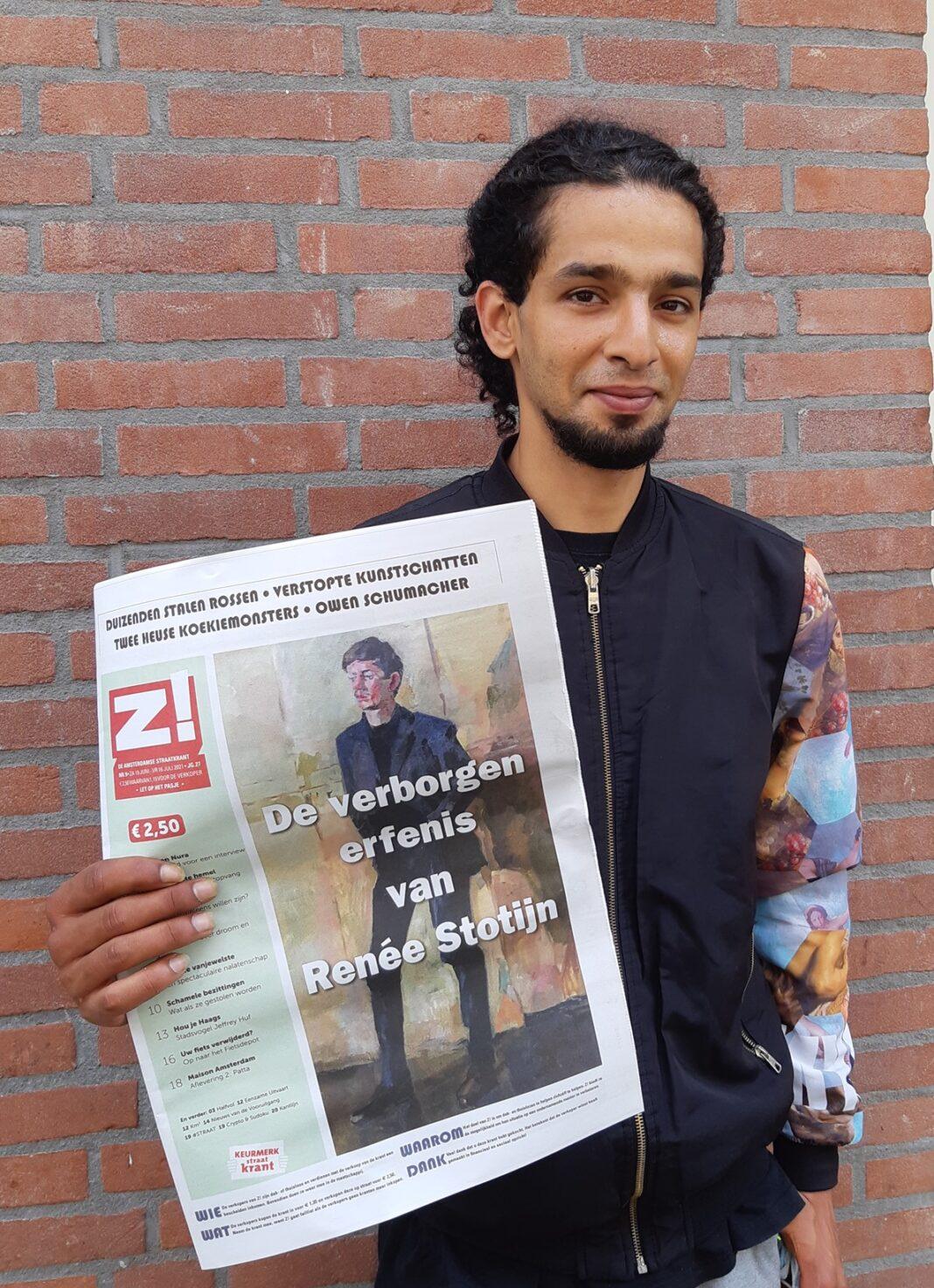 Z! verkoper Yassin met editie 9